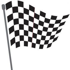 Karierte Zielflagge